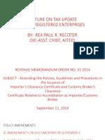 BIR - New Policies and Procedures