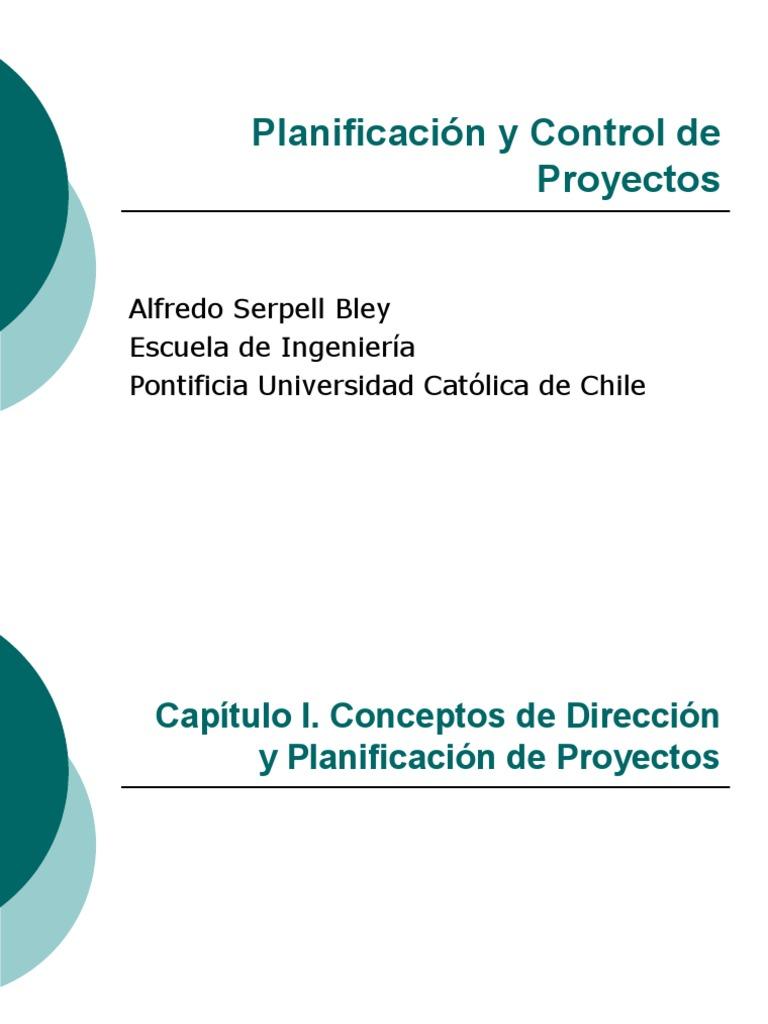 Planificacion Y Control De Proyectos Alfredo Serpell Epub
