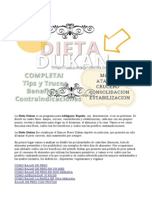 Dieta dukan pdf libro