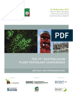 The 19th Australasian Plant Pathology Conference, 2013, Auckland, New Zealand