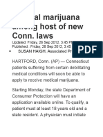Medical Marijuana Among Host of New Conn