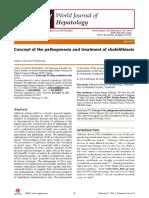 Concept of the Pathogenesis and Treatment of Cholelithiasis