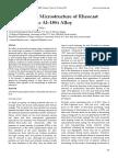 Solidification Microstructure of Rheocast Hyper-Eutectic Al–18Si Alloy