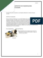 Caracteristicas y Aplicaciones de La Maquinaria Pesada