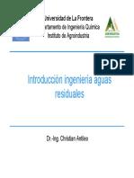 Introducción Ingeniería Aguas Residuales