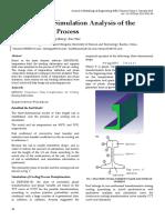 Organization Simulation Analysis of the U75V Cooling Process