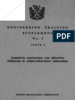 Harmonic Distortion and Negative Feedback in Audio-Frequency Amplifiers 2nd Edition - British Broadcasting Corporation (1956)