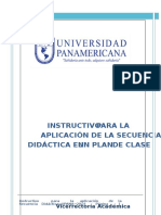 Instructivo Secuencia Didactica2015