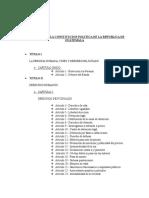 Estructura de La Constitucion Politica de La Republica de Guatemala