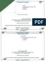 Contoh Undangan Aqiqah Doc Simpel (Kertas A4 Dibagi 4)