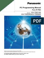 KX TDE Series PC Programming Manual