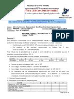 Examen Partiel Master 1 Cote d Ivoire 2013