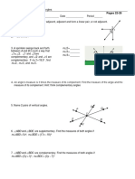 sp pairs of angles