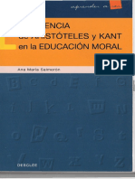 La Herencia de Aristoteles y Kant en La Educación Moral