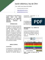 Informe Electricidad 1