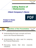 Finance Presentation - Sample PPT