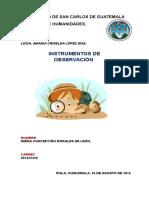 herramientas de evaluacion de observacion