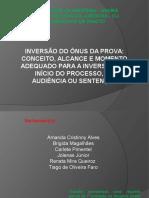 Apresentação TRABALHO CDC - inversão do Onus da Prova.pptx