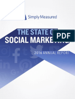 2016 State of Social Marketing