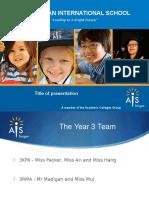 year 3 parent info night presentation