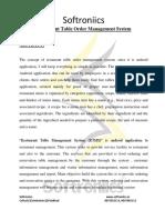Restaurant Table Order Management System Docx