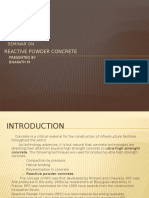 Seminar Reactive Powder Concrete