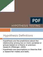 Unit 4 Hypothesis