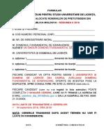 Anexa 1 Formular de Inscriere Sesiunea II 2015