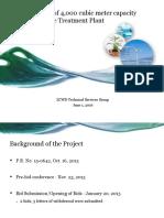 Updates on ZCWD Sewage Treatment Plant Project