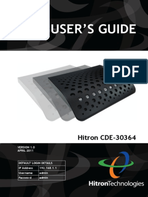 Hitron CDE 30364 Users Guide | Ip Address | Modulation
