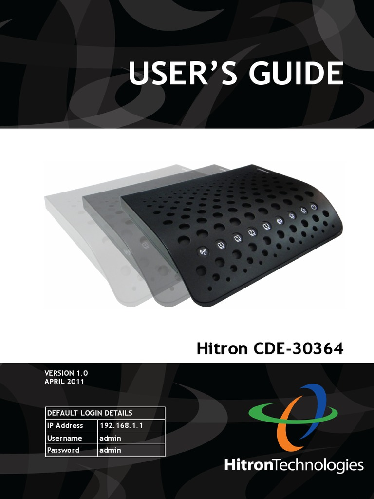 Hitron CDE 30364 Users Guide | Ip Address | Modulation