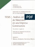Análisis de Flujo de Materiales Constructora (VEr Definiciones de Inventario-Almacenes)
