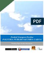 Euskal Garapen Eredua. POLITIKA PUBLIKOAK DIRA GAKOA