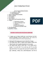 Training Report Format MUJ