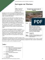 Dinamica 9 - Caso Samarco - Rompimento de Barragem Em Mariana – Wikipédia, A Enciclopédia Livre