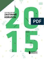 Výročná správa Nadácie Zastavme korupciu za rok 2015