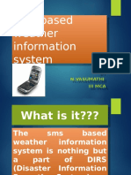 Sms Based Weather Information System