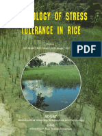 Physiology of Stress Tolerence of Rice