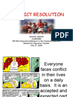 CEP 841 Conflict Resolution Presentation A