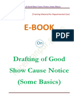 Drafting of Good Show Cause Notice (SCN) (Some Basics)