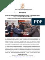 Press Release - AlHuda CIBE efforts to promote Islamic Banking