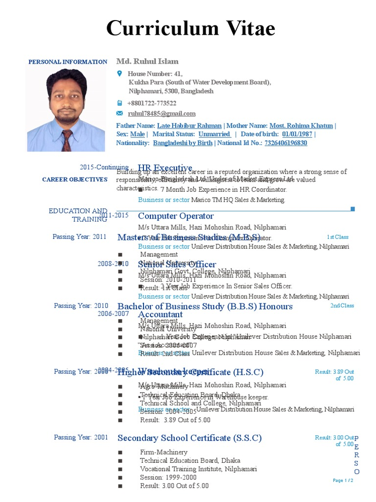 Md ruhul Islam   Vocational Education   Communication