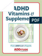 ADHD Vitamin Supplements
