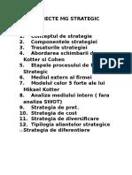 Subiecte Mg Strategic