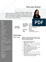RESUME CV SAMPLE FOR WRITERS