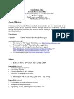 SAMPLE CV RESUME WRITERS