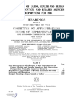 HOUSE HEARING, 113TH CONGRESS - DEPARTMENT OF LABOR, HEALTH AND HUMAN SERVICES, EDUCATION, AND RELATED AGENCIES APPROPRIATIONS FOR 2014