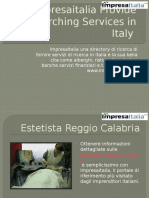 Impresaitalia Provide Searching Services in Italy