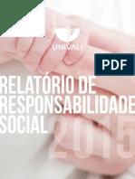 Balanço Social Univali - 2015