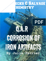 The Chemical Process of Corrosion in the Iron Artifacts of Queen Anne's Revenge